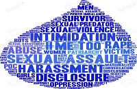 Sexual assault word cloud