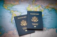 Passports and globe